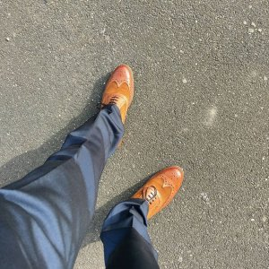 Loving my #newshoes from #dune #shoes #brogues #tan #leather #