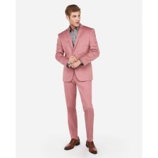 Shop Slim Pink Cotton Sateen Performance Stretch Suit Pants Pink and more