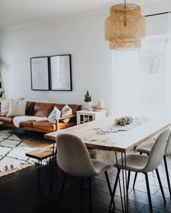 plants eclectic instagram-post boho dining-room 6
