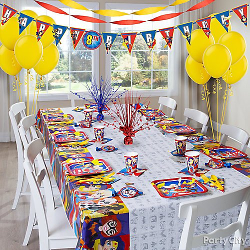 Idea 7 Turn Your Party Room Into Super Hero High
