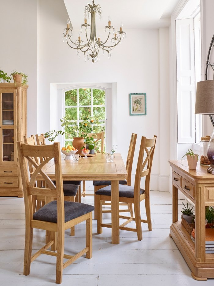 0275cdecc3618 Curated image with Canterbury Natural Solid Oak Dining Set - 5ft Extending  Table And 6 ...
