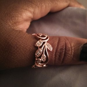 4672a4253 Ms.Boo's image of White Cubic Zirconia 18k Rose Gold Over Sterling Silver  Ring