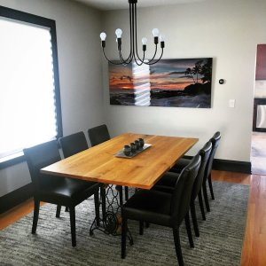We Our Custom Dining Room Table Made By My Talented Brothercustom