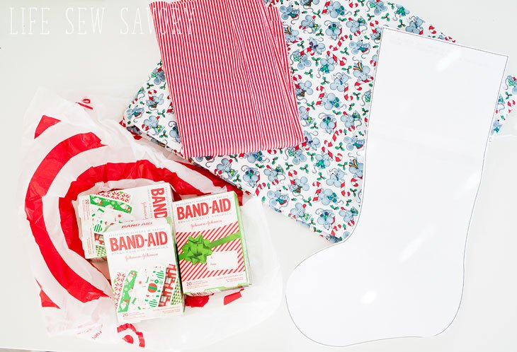 curated image with band aid holiday deco