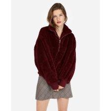 Shop Express One Eleven Fleece Quarter-Zip Sweatshirt Purple Women's XL and more
