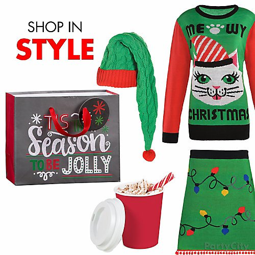 8ae6f19a Curated image with Long Cable-Knit Elf Hat, Adult Christmas Lights Ugly  Christmas Sweater ...