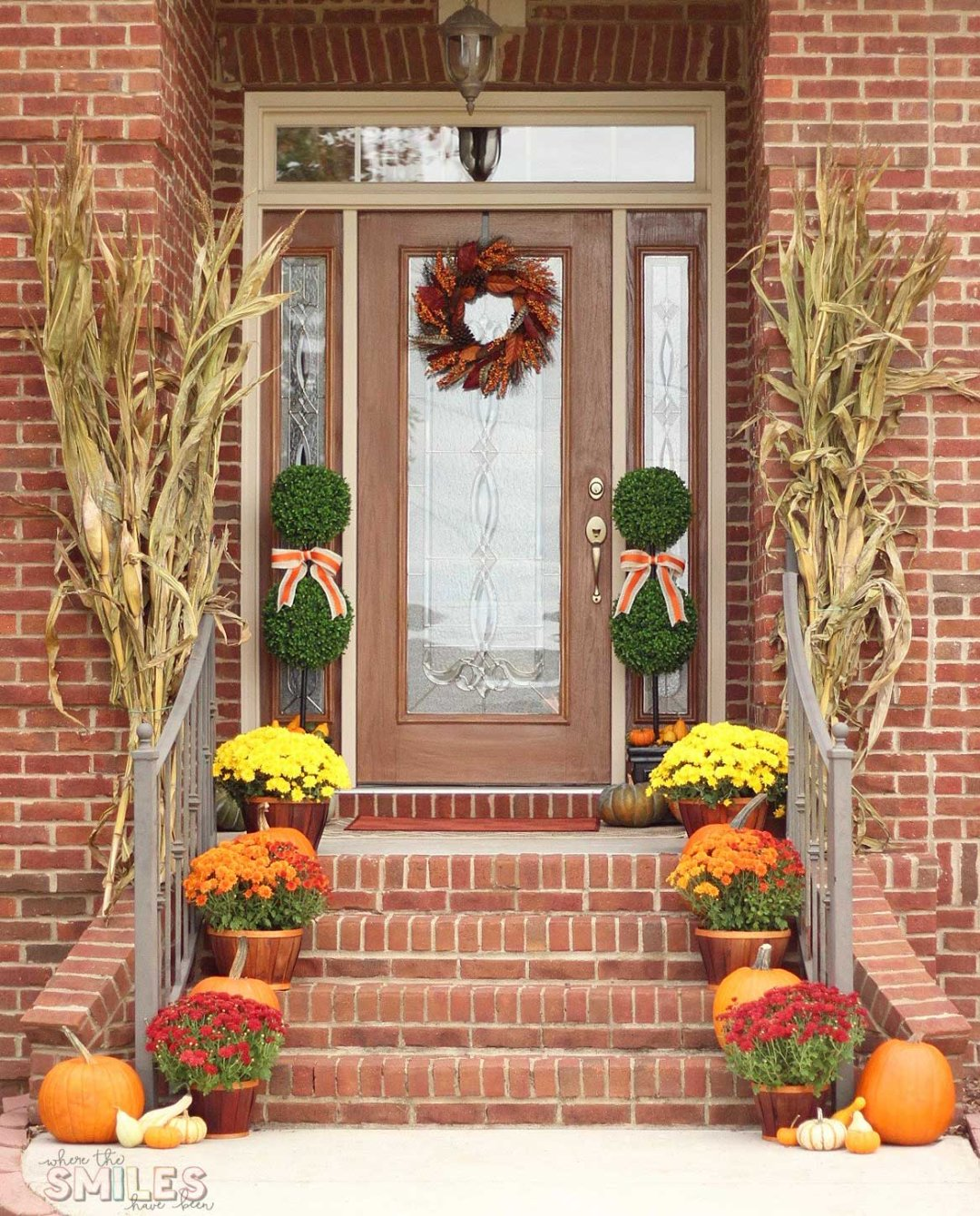 Front Porch Decorating: Fall Front Porch Decor: Our Happy Harvest At Home