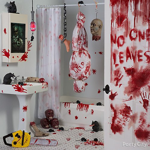 Halloween Huge Wall Decorating Kit Sinister Surgery Bloody Asylum Party Backdrop