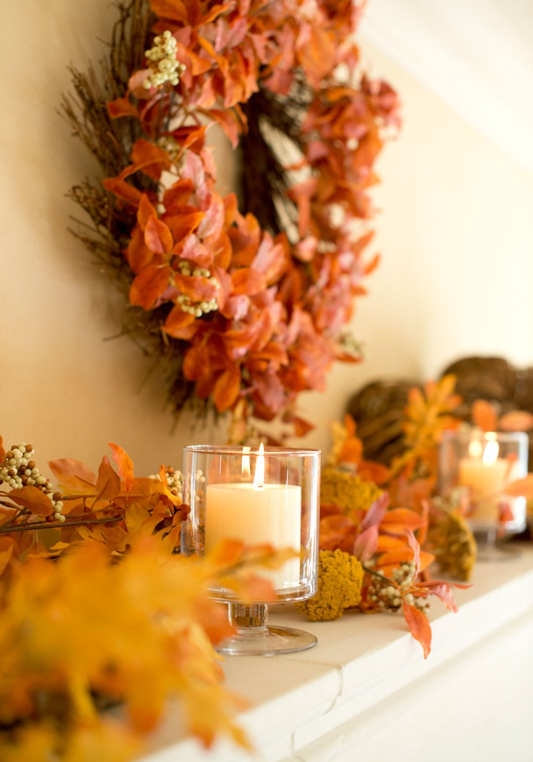 Fall Mantel Decorating Ideas Crate And Barrel Blog
