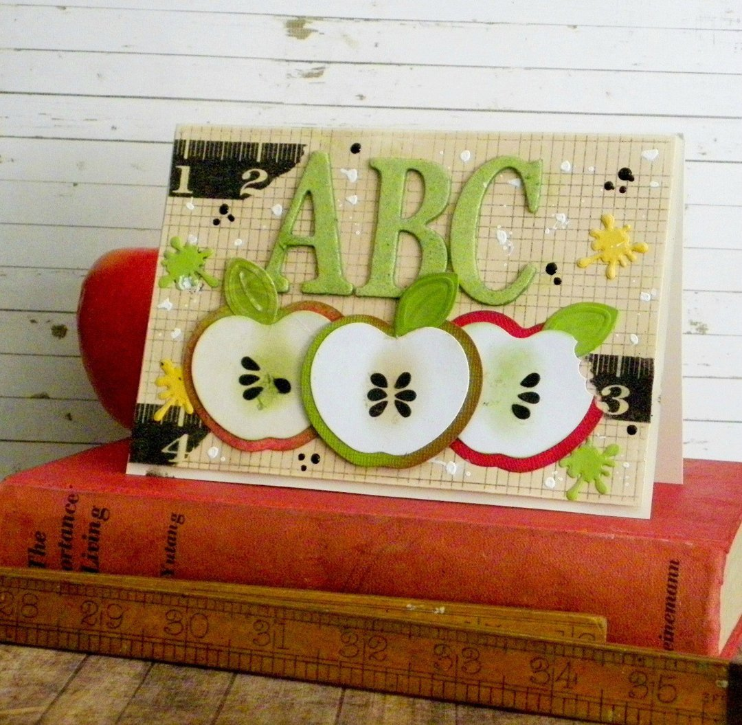Back to School: An Apple for Teacher Card by Linda Lucas for Spellbinders Paper Arts MAIN