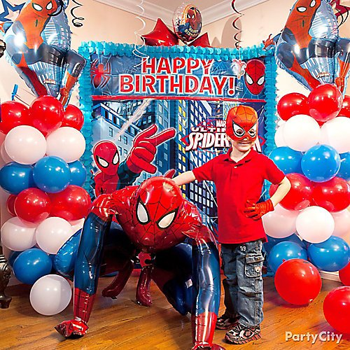 Curated Image With Spider Man Webbed Wonder Mask Balloon