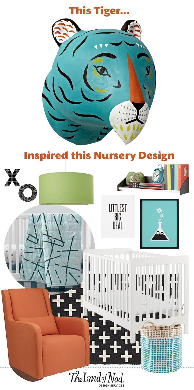 From Inspiration to Nursery Design: Charming Creatures Tiger