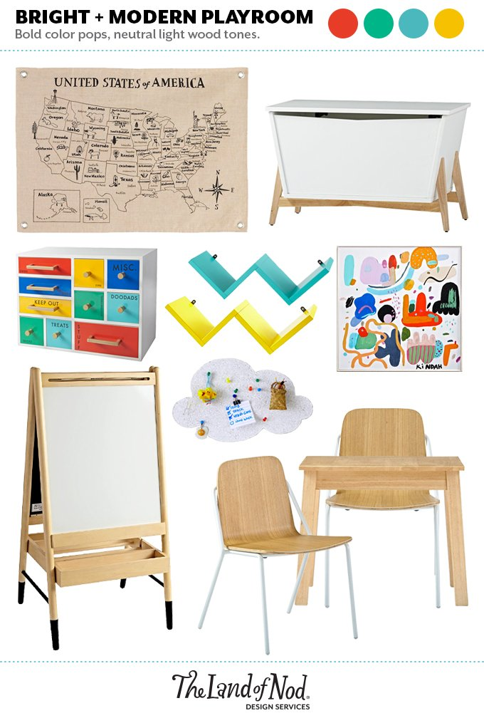 Light Wood Playroom Moodboard