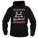 Santa's Favorite Redhead Ugly Christmas T-Shirt
