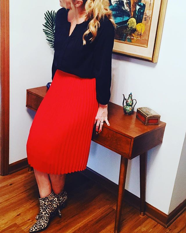 e306dbad2 ... Women's Pleated Midi Skirt - A New Day + Vital Voices - Red! see all  your loves · instagram photo by @goodmorninglori