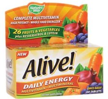 Shop Alive! Daily Energy High-Potency Multivitamin and more