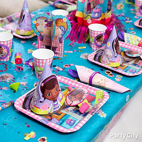 Idea 12 Make A Boring Table All Better With Pretty Place Settings Create An Adorable Party Matching Doc McStuffins