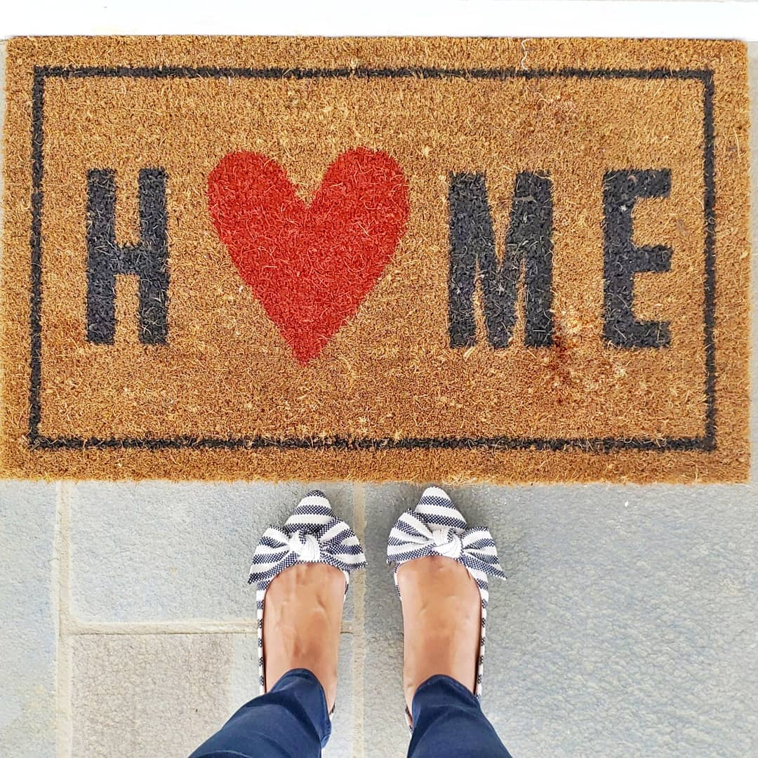 d726c7fe41aab Home with the Heart Typography Doormat 1'6