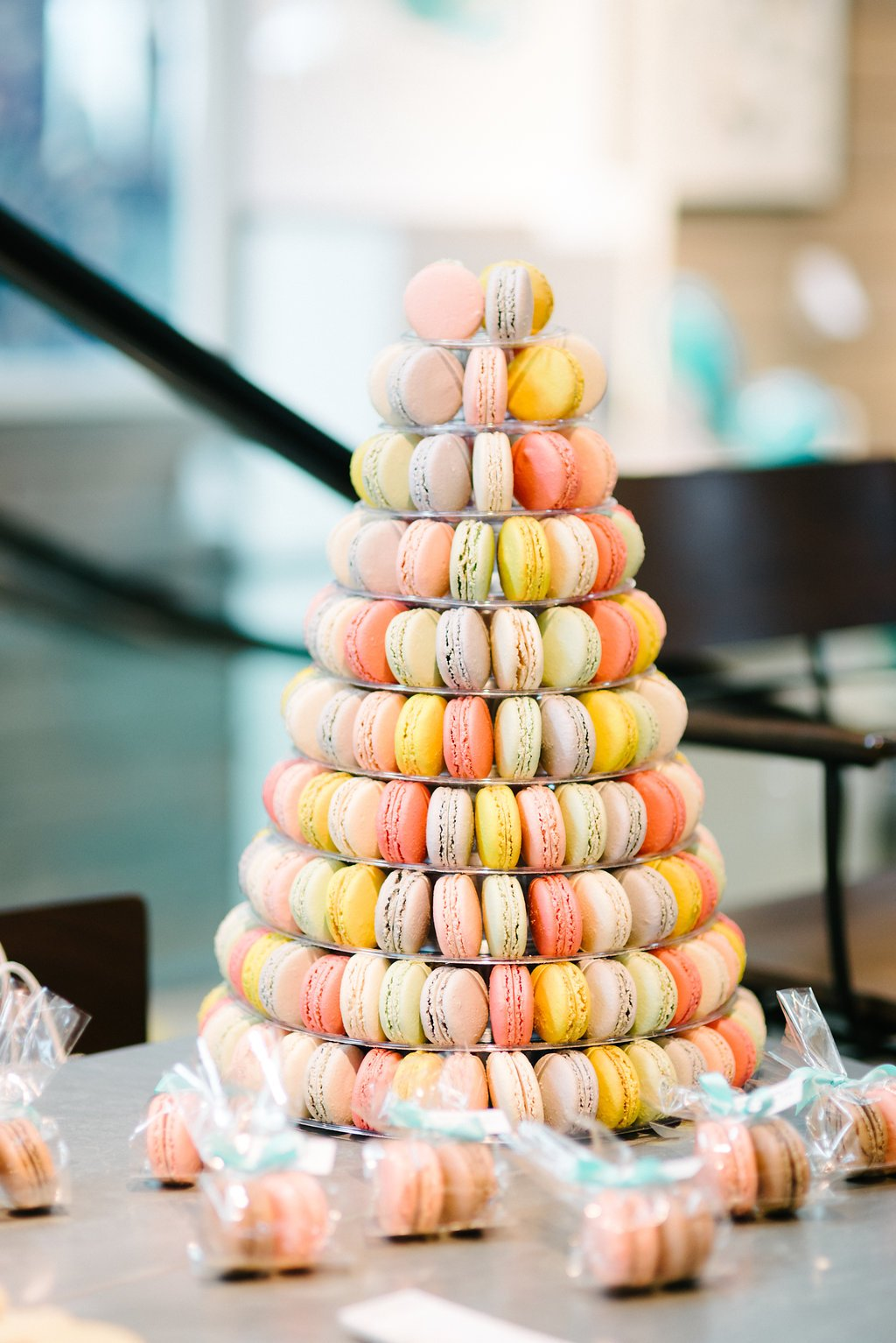 Macaroon tree at Crate and Barrel Private Registry Event