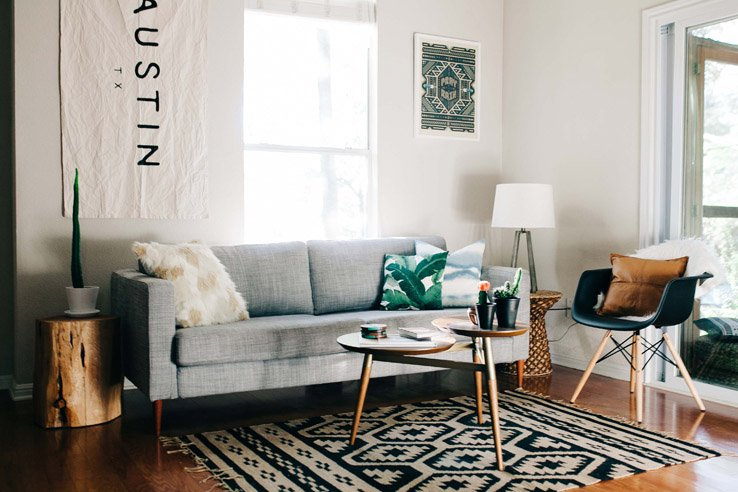 Bohemian Style In Austin Front Main - West elm clover coffee table
