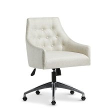 Shop Newport BEIGE METAL Upholstered Desk Chair and more