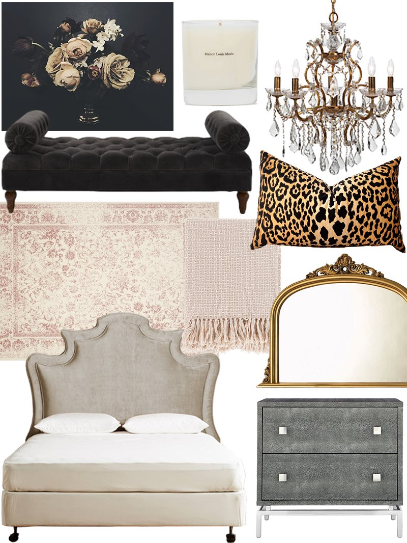 Create the look classic glam bedroom shopping guide for Glam bedroom decor