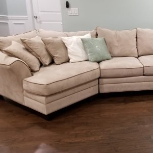 Foresthill 3 Pc Microfiber Sectional Sofa Light Taupe Raymour