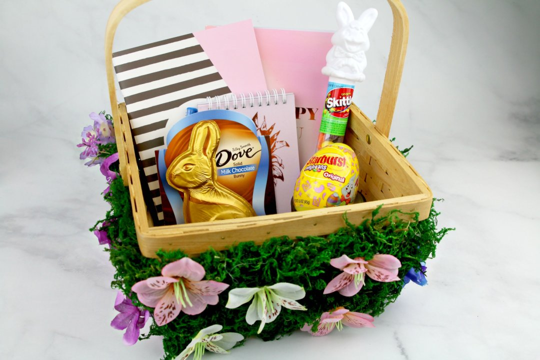 Diy flower easter basket life family joy shop dove easter milk chocolate candy solid easter bunny box 45 oz walmart skittles original candy filled easter bunny tube 17 oz walmart negle Images