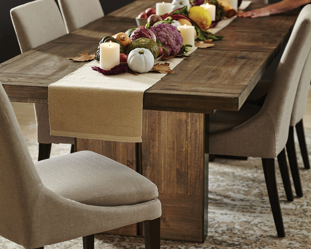 Curated image with mandalay ext dining table dune brown montana dining chair kaden