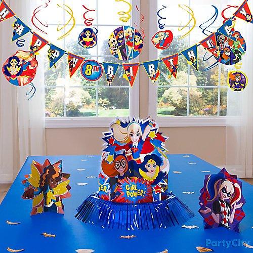 Birthday Decoration DC SUPERHERO GIRLS Cake Topper Dc Superhero Girls Centerpiece Dc Superhero Girls Cake Topper Cutout