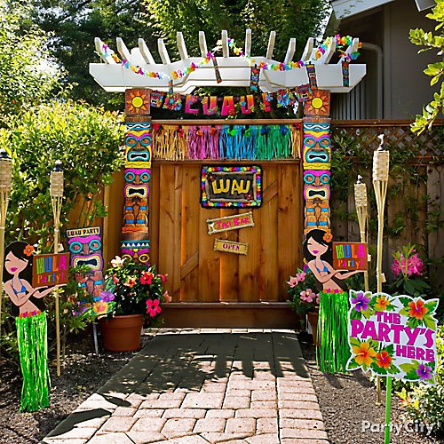 a5144aeba48f Idea 12: Let tiki time start right at your party entrance