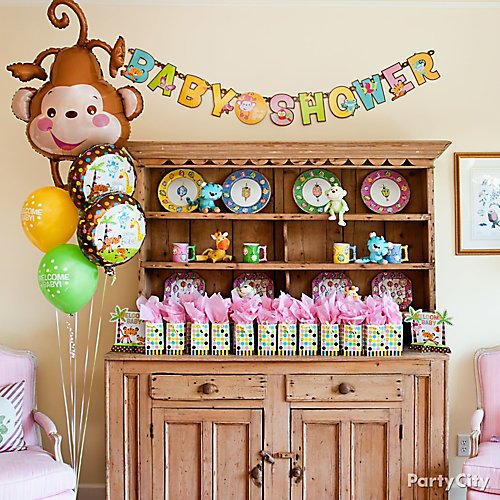 Curated image with Fisher Price Baby Shower Banners 2ct, Fisher-Price Monkey Baby Shower Balloon,...