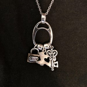 Charm holder necklace james avery my heart of texas with my lock key aloadofball