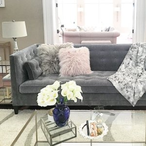 tufted sofa living room. Clancy 86  Upholstered Tufted Sofa with 1 Cushion in Vangogh Fog