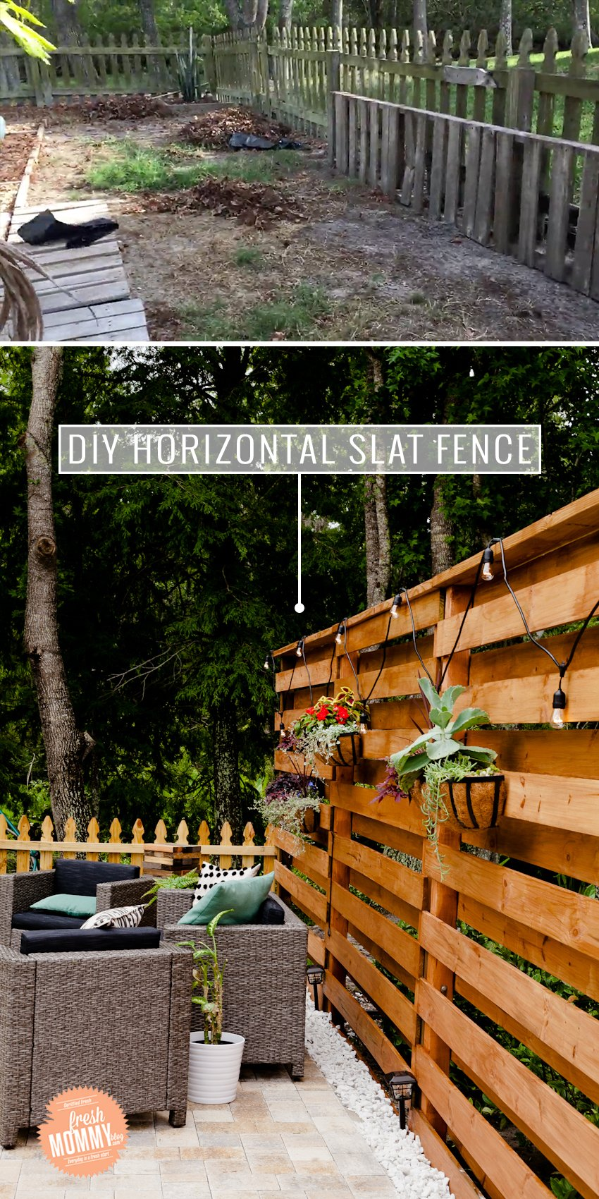 Stunning Diy Horizontal Slat Fence Lifestyle Fresh Mommy Blog