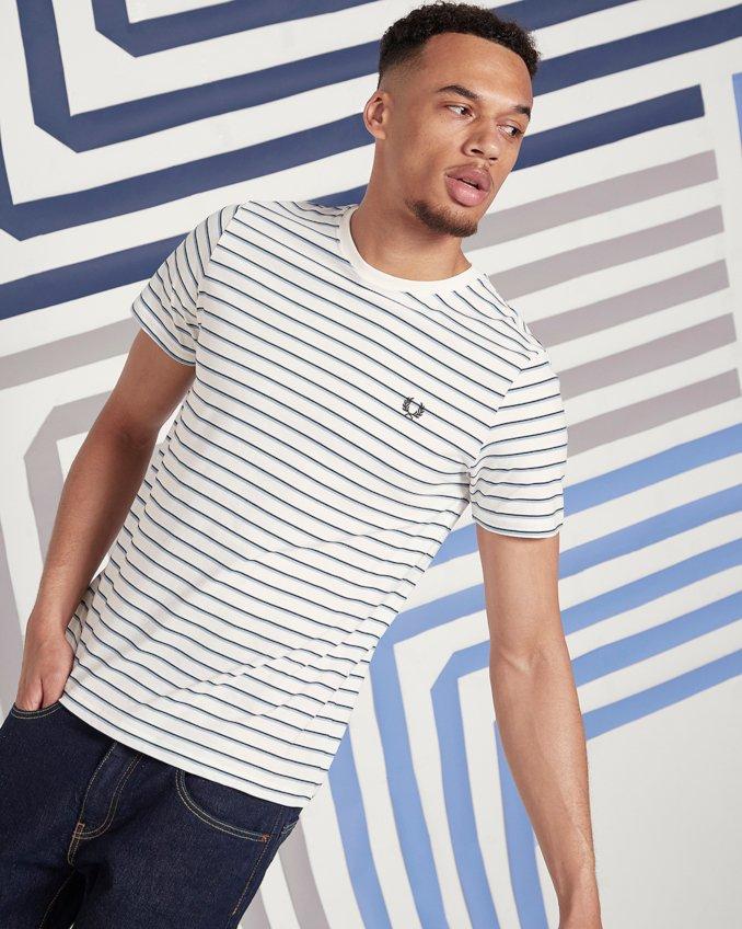 Camiseta de Fred Perry para hombre con líneas marineras