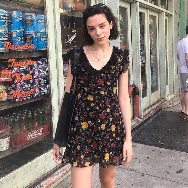aa86cc18bf3e September  MOOD  The 🌻FALL FLING 🌻 floral dress 🧡🍁🍂