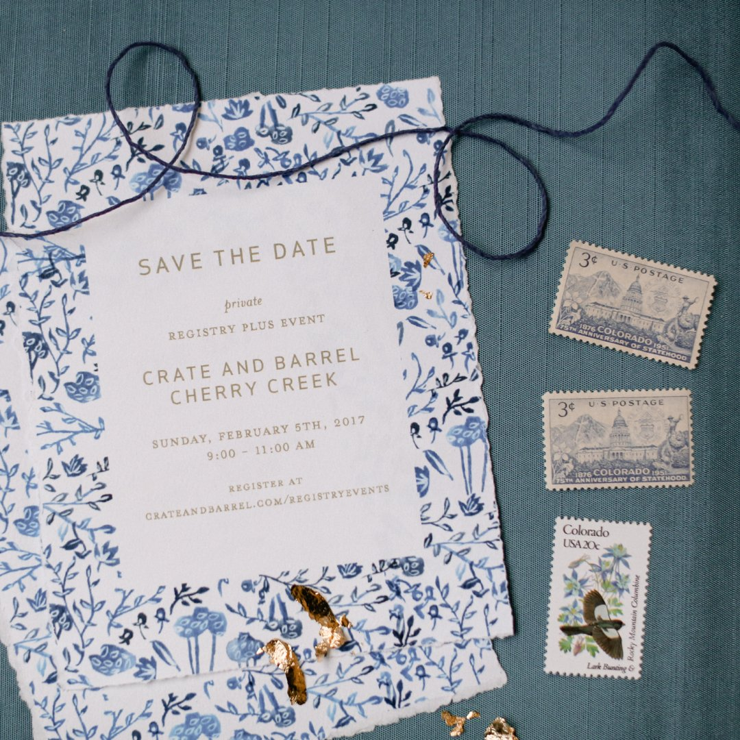 Save the Dates for Crate and Barrel Cherry Creek Private Registry Event