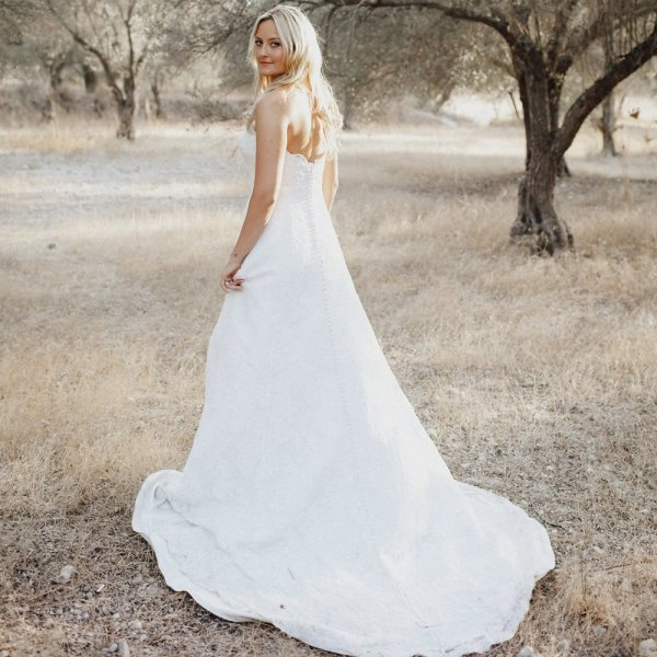 Style 8627 Lace Sweetheart A Line Wedding Dress Justin Alexander