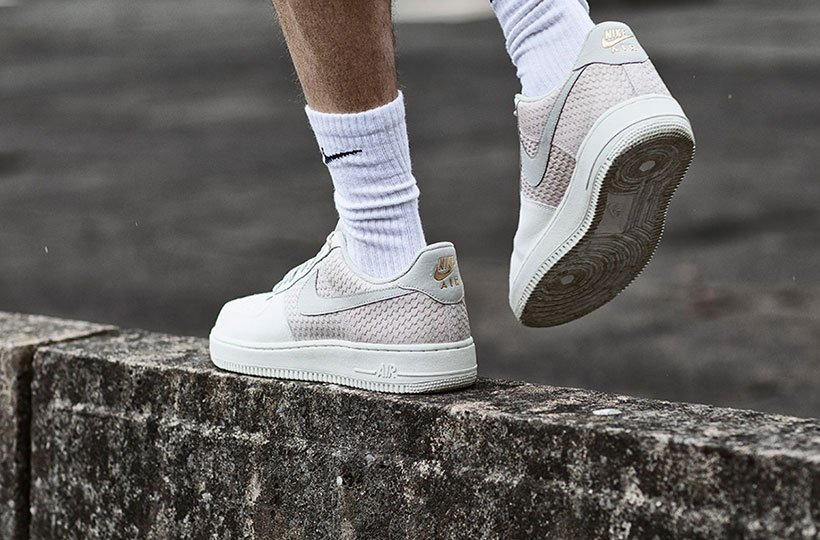 d74a6145 Curated image with Nike Air Force 1 07 LV8 Trainer - Sail / Light Bone ...