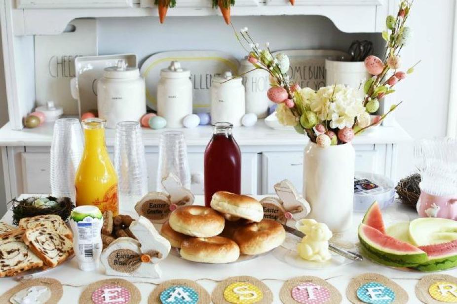Elegant Easter Brunch Tablescape, and Serving Ideas