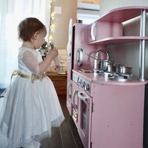 Cuisine Enfant En Bois Vintage Rose