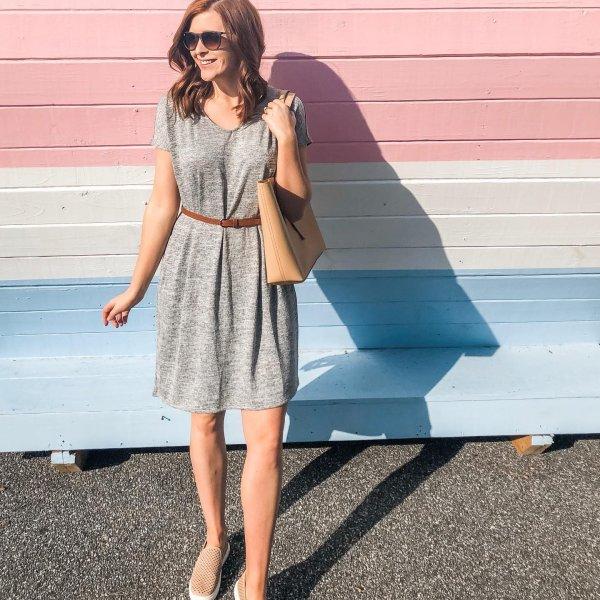 ed7497f651a  morgan.ozley s instagram image of Women s Hacci T-shirt Dress