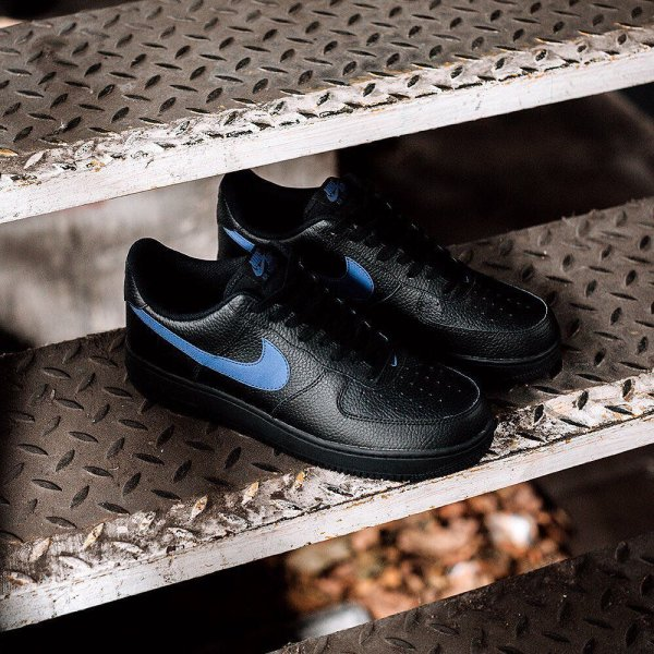 The  nike Air Force 1 Low Black Gym Blue part of.  footasylum 5357aebc42