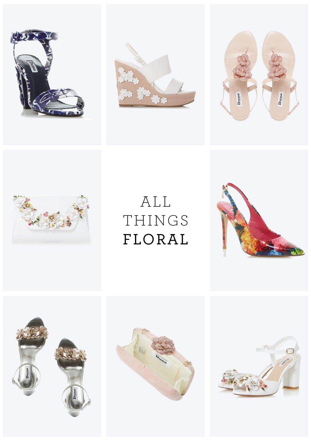 6200412ffe5afe MAYFLOWER - Floral Detail Block Heel Sandal