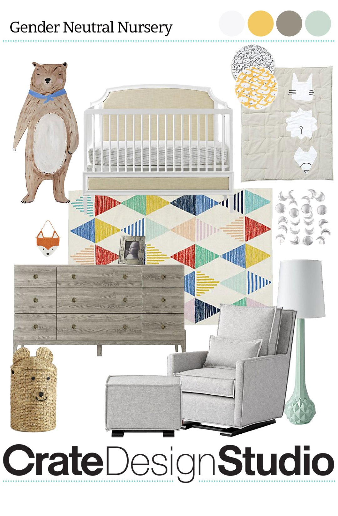 Curated image with bear decal harmony 3 in 1 crib