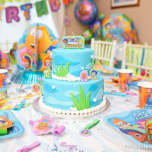 Enjoyable Bubble Guppies Party Ideas Party City Funny Birthday Cards Online Alyptdamsfinfo