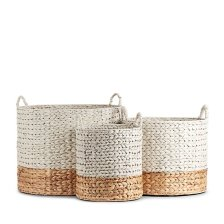 Shop Cassie Set Of 3 White Basket and more