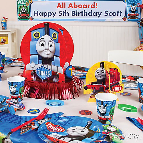 Incredible Thomas The Train Party Ideas Party City Home Interior And Landscaping Sapresignezvosmurscom