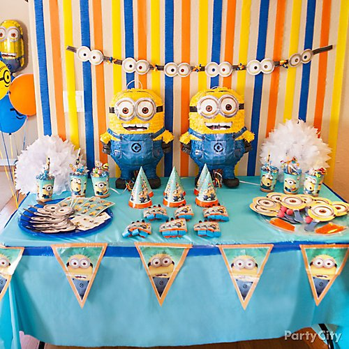 Curated Image With Minions Birthday Banner Kit Table Cover Tableware Party